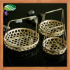 Wicker di bambù Tray Basket con Handles