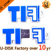 Movimentação feita sob encomenda simples do flash do USB do PVC do logotipo (YT-6433LL)
