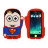 Cubierta/caja rojas vendedoras calientes del silicio de la historieta del superhombre para el iPhone 4/5/6g