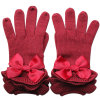 Gants chauds de robe tricotés Wool de Madame Fashion Ribbon Bow (YKY5468-3)
