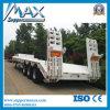 3 차축 13meters Digger Cargo Transporting Lowbed Truck Trailer