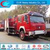 販売のためのHOWO 4X2水および泡の消火活動のトラック