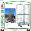 Carrello della gabbia del rullo del contenitore della rete metallica del magazzino
