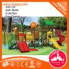 Campo de jogos ao ar livre do estilo plástico da árvore da corrediça do balanço