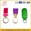 Keychain di cuoio variopinto su ordinazione promozionale poco costoso