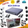 8 Channel 700tvl Sistema de CCTV de software livre de Cms