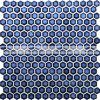 19mm sechseckige dunkelblaue glasig-glänzende Pool-keramische Mosaik-Fliese (BCZ607)