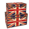 Античный английский хобот /Box хранения типа PU/Leather флага упаковывая деревянную коробку