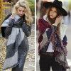 Кашемира типа способа шаль шарфов шотландки этнического теплая окаимленная (50186)