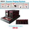 Kfcのコースターのポケットベルで連絡するサービスシステム、表順序ブザーの待ち行列管理1のキーパッド25のポケベル