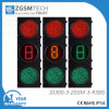 Cuenta descendiente verde del tráfico del LED 1 de Digitaces roja clara 300m m 3 de los colores y