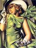 Image fabriquée à la main de femmes élégantes de peinture à l'huile de peintures d'imitation