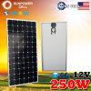 12V Battery hors de Grid Mono Monocrystalline Solar Panel pour Camping