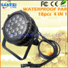 18PCS*10W RGBW 6 In1 IP65 de Stad Wash LED PAR Light van Outdoor Waterproof (sf-306B)