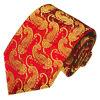 Cravates en soie tissées par modèle de Paisely d'or de fond de couleur du vin de la mode des hommes
