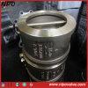 Tipo valvola di ritenuta della cialda del bronzo di alluminio dell'oscillazione del disco del doppio