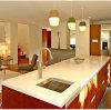 170406 personalizou a bancada branca de superfície contínua da cozinha