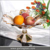Fruitのための足のGold Plated Bowl