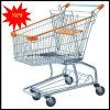 Amerikanischer Art-Metallsupermarkt-faltbare Einkaufen-Laufkatze