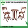 Conjunto al aire libre de madera plegable del vector de la barra de los muebles de la barra
