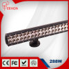 288W diodo emissor de luz Offroad Light Bar de Row Double Straight 44