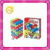 아이들 놀기를 위한 다채로운 탑 게임을 겹쳐 쌓이기