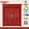 Изготовленный на заказ деревянная дверь входа для виллы (XS1-006)