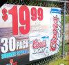 Drapeau extérieur résistant de supermarché de promotion des prix bon marché