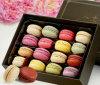 Французское ручное золото коробки 16 Macarons содержа еду подарков Zero (LC15-389)