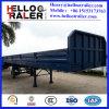 80半トン3の車軸サイドウォールの平面のトレーラーの貨物トレーラー