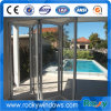 Porta Bifold exterior do alumínio com vidro Tempered dobro de 5mm