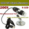 200X Digital Microscope Camera, 20-200X, 0.3m CMOS Sensor, White Light LED X8 PCS