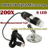 200X Digital Microscope Camera, 20-200X, 0.3m CMOS Sensor, White Light LED X8 PCS