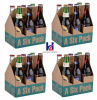 Коробка упаковки вина пива картона 6 бутылок