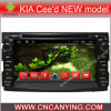 Reproductor de DVD del coche para el reproductor de DVD de Pure Android 4.4 Car con A9 CPU Capacitive Touch Screen GPS Bluetooth para el modelo nuevo de KIA Cee'd (AD-7042)