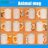 Direktes Manufacturer 11oz Blank Sublimation Animal Handle Mug