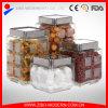 Vaso di vetro della caramella di alta qualità all'ingrosso/vetro di vetro quadrato vaso di biscotto/del vaso