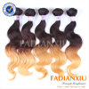 Form-spinnt peruanisches Haar-Extension Ombre Haar (FDX-Peru-TT001)