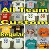 Il baseball su ordinazione Jersey tutta Team Pinstriped arancione verde bianco di Grey blu dei T della fabbrica del pullover della crema rossa del nero cucito commercio all'ingrosso normale