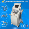 E-Light+IPL+Qによって切替えられるND YAG Laser+Cavitation+RF IPLの美