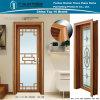 Puerta con bisagras cuarto de baño de aluminio con la decoración (Z-124)