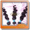 Pode ser tingido, o cabelo humano de 100%, extensão brasileira do cabelo