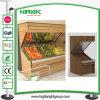 Supermarkt-hölzernes Gemüse-und Frucht-Standplatz-Fach