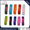 O relógio o mais barato do flash do USB do bracelete do silicone do diodo emissor de luz (DC-577)