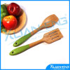 Spoon di bambù con Silicone Handle 2PC per Set