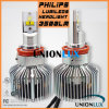 Le plus nouveau phare de 50W H11 12V 24V 4500lm Philips LED H11