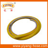 Manguito de aire de alta resistencia del PVC del amarillo