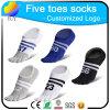 Kundenspezifische Zehe-Socken-beiläufige Socken des Zahl-Entwurfs-fünf