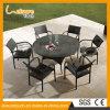 Jardim ajustado do Rattan da alta qualidade da tabela da ruptura de jantar do jogo da mesa redonda