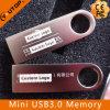 Memória Flash prateada popular do metal USB3.0 com logotipo feito sob encomenda (YT-3295-02)